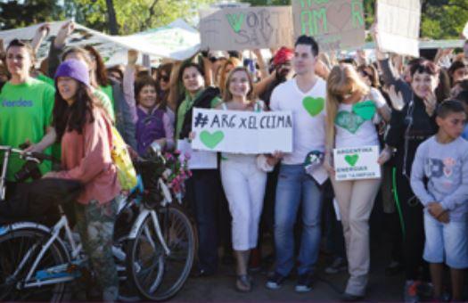 Movilización por la lucha del cuidado del medio ambiente