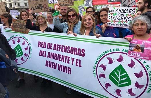 Marcha de la red defensoras del ambiente y buen vivr